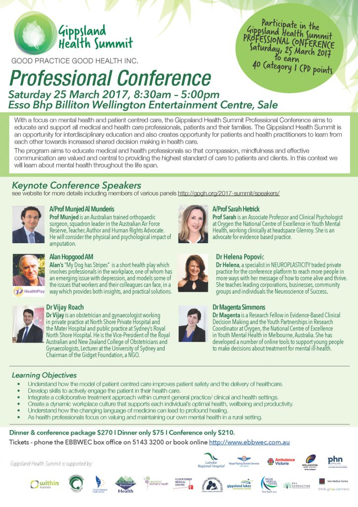 Professional Conference Saturday 25 March